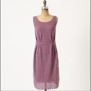 Anthropologie Dresses - Anthropologie Maeve purple lace eyelet dress